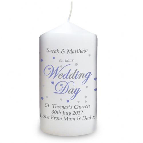 Personalised Wedding Day Candle